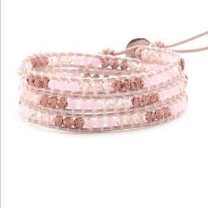 Victoria Emerson Mauve Pink Crystals on Pink New!